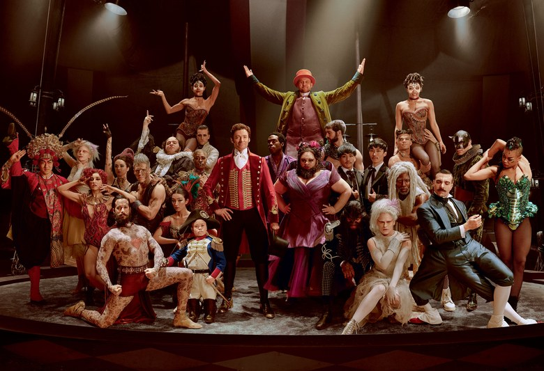 The+talented+cast+of+%22The+Greatest+Showman%22+poses.+The+performers+wear+very+colorful+costumes+to+look+different+from+the+subtle+tones+of+%22normal%22+people