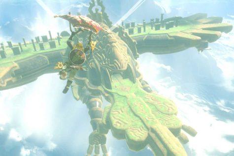 Link glides onto Divne Beast Va Ruta