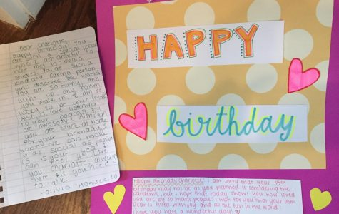 Thoughtful birthday gifts from Perrin Trask and Olivia Maniscalo.