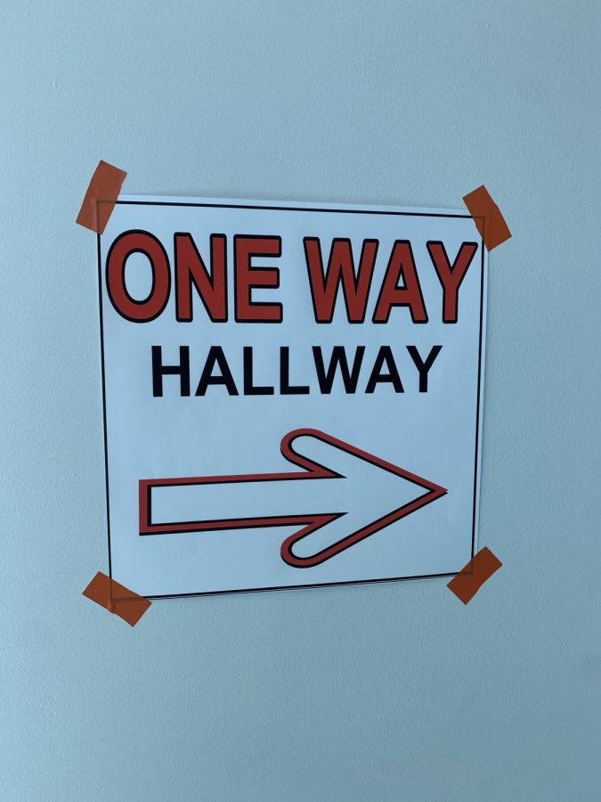 A common sight in DHS hallways are confusing signs directing students as to which way they are to walk. Effective at first, these signs are now often unheeded.