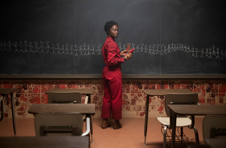 Lupita Nyongo stars in Jordan Peeles Us as both her character Adelaide and her doppelgänger, Red.