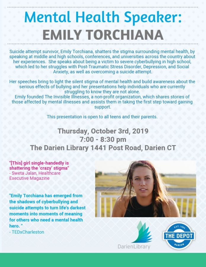 Emily Torchiana to come to Darien Library