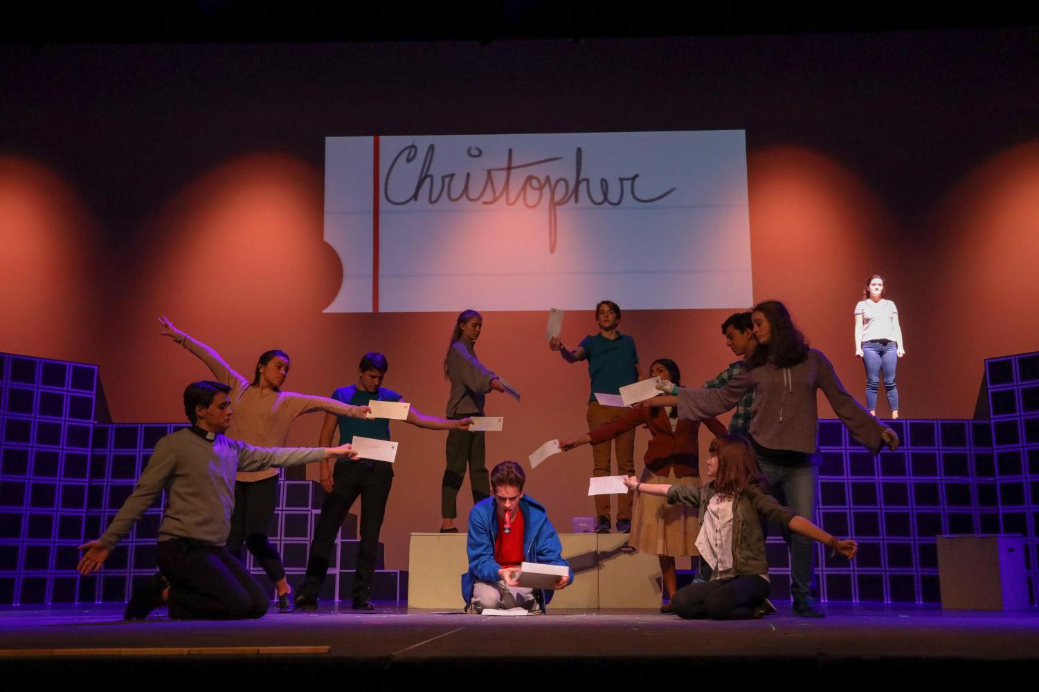 Junior Jackson Wood brings Christopher to life on stage in a rehearsal for