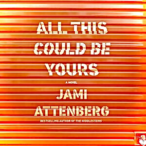 Distorted cover of book jacket for novel All This COuld Be Yours by Jami Attenberg